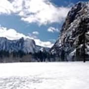 Yosemite Meadow In Winter Poster