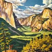 Yosemite Park Vintage Poster Poster