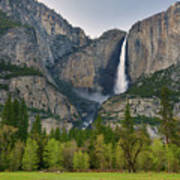 Yosemite Upper And Lower Falls Poster