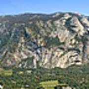 Yosemite Valley Panorama From Union And Glacier Points Poster