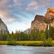 Yosemite Valley View Poster by Buck Forester