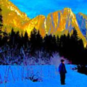 Yosemite Valley Winter Walk Poster