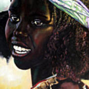 Young Black African Girl Poster