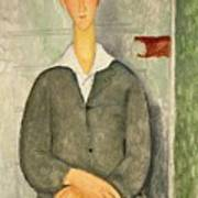 Young Boy With Red Hair Poster by Amedeo Modigliani