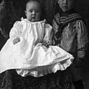 Young Ernest Lawrence And Brother, 1904 Poster