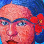 Young Frida Kahlo Poster
