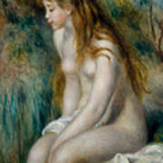 Young Girl Bathing, 1892 Poster