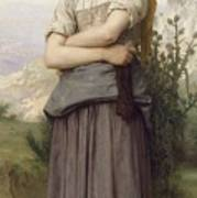 Young Girl, By William-adolphe Bouguereau Poster