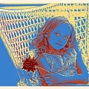 Young Girl With Blue Eyes Poster