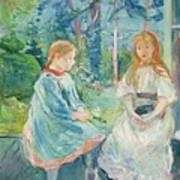 Young Girls At The Window Poster by Berthe Morisot