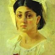 Young Italian Woman In A Folk Costume Study Poster