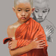 Young Lama Poster