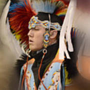 Pow Wow Young Man Poster