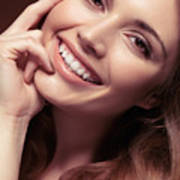 Young Woman With A Natural Smile Poster