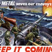 Your Metal Saves Our Convoys Poster by War Is Hell Store