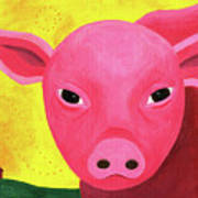 Yuling The Happy Pig Poster by Kristi L Randall