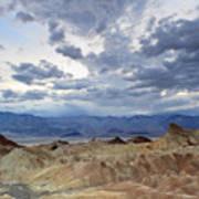 Zabriskie Point Twilight Death Valley Poster