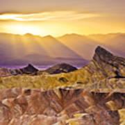 Zabriskie Sunset Poster