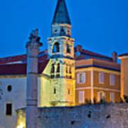 Zadar Landmarks Evening Vertical View Poster