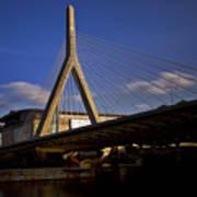 Zakim Bridge And Boston Garden At Sunset Poster