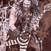 Zakk Wylde - Watercolor 08 Poster