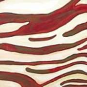 Zebra Zone - Color On White Poster