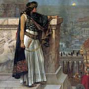 Zenobia's Last Look On Palmyra Poster by Herbert Gustave Schmalz