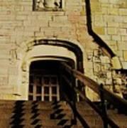 Zig Zag Shadows At Clifford's Tower, York, England Poster