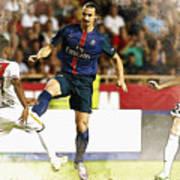 Zlatan Ibrahimovic In Action  Poster