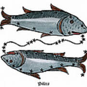 Zodiac: Pisces, 1482 Poster