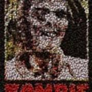Zombie Bottle Cap Mosaic Poster by Paul Van Scott