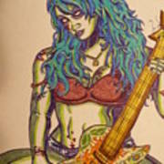 Zombie Guitar Poster