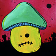 Zombie Mushroom 1 Poster by Jera Sky