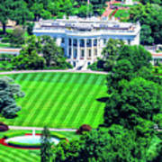 Zoomed In Photo Of The White House Poster