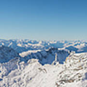 Zugspitze Observatory Panorama Poster