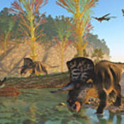 Zuniceratops River Poster
