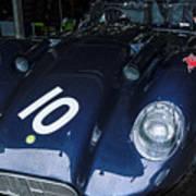 A 1950's Lister Jaguar Race Car Poster