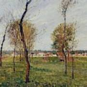 A Meadow In Eragny, 1889 Poster