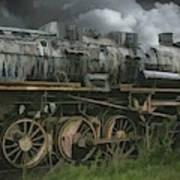 Abandoned Steam Locomotive  Poster