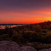 Acadia National Park Sunrise  Poster