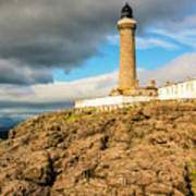 Ardnamurchan Point Lighthouse In Portrait Format. Poster