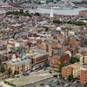 Boston Government Center, North End And Harbor Poster