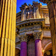 Columns Of The Palace Of Fine Arts Poster