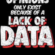 Computer Data Science Big Data Geek Pun Apparel Poster
