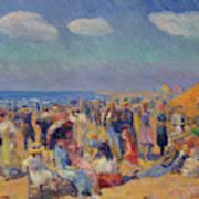 Crowd At The Seashore Poster