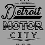 Detroit Motor City Poster