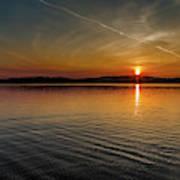 Dog Lake Sunset Poster