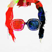Elton Watercolor Poster