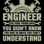 Engineer Problem Solver Engineering Career Poster