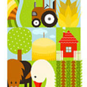 Flat Childish Rectangular Agriculture Poster